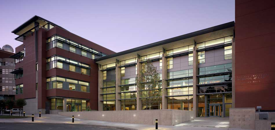 This award-winning contemporary design centers on an open, light-filled atrium space, to help foster a strong sense of community for the school. Accommodating approximately 850 students, this 136,000 sf building is both compact and generous in its plan and proportions.