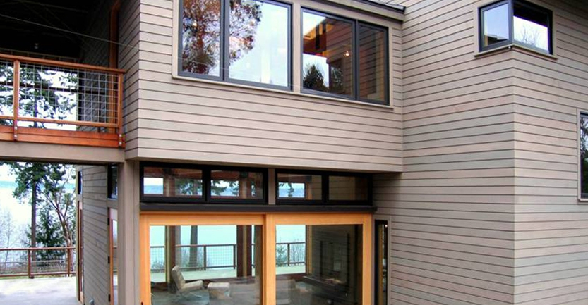 Scheduled for completion in 2013, this house design, intended as a family retreat, overlooks Saratoga Passage on Whidbey Island, Washington.